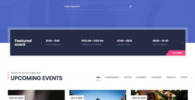Event Ticket Booking WordPress Theme – EM4U Template