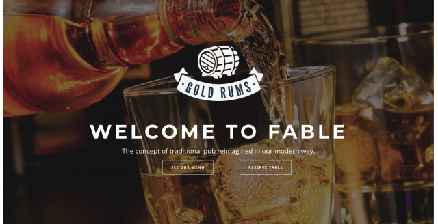 Restaurant Bakery Cafe Pub WordPress Theme – Fable Template