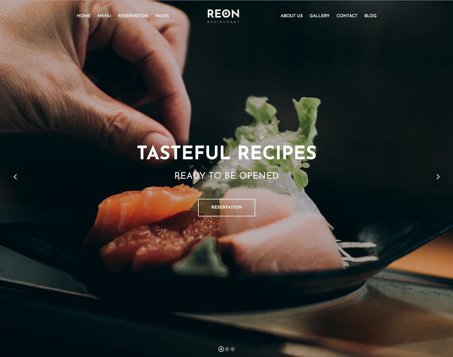 Restaurant WordPress Theme – Reon Template