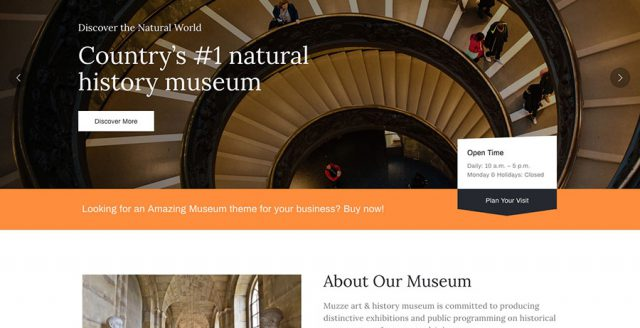 Museum Art Gallery Exhibition WordPress Theme – Muzze Template