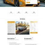 car rental wordpress theme ireca - landing page wordpress theme