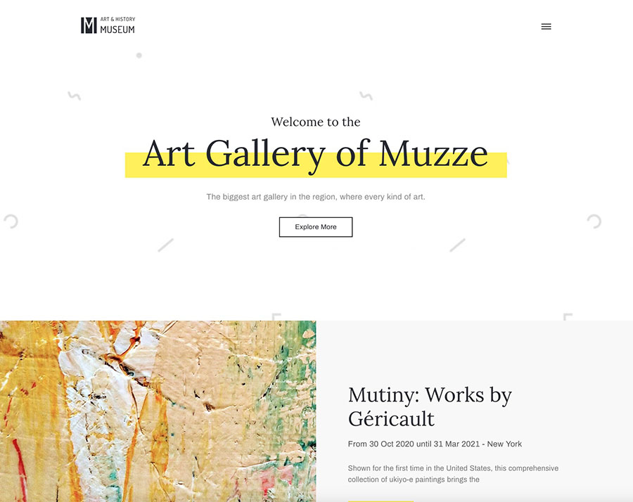 Museum Art Gallery Exhibition WordPress Theme – Muzze Template
