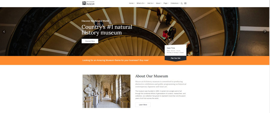 Art Gallery Museum Exhibition and Event WordPress Theme