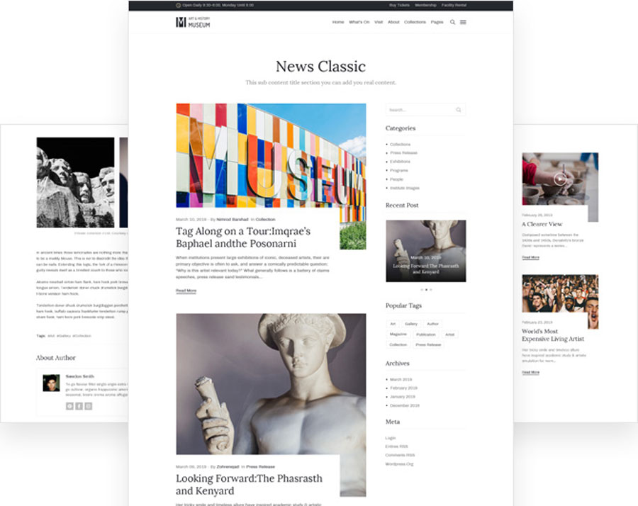 Art Gallery, Museum, Exhibition and Event WordPress Theme