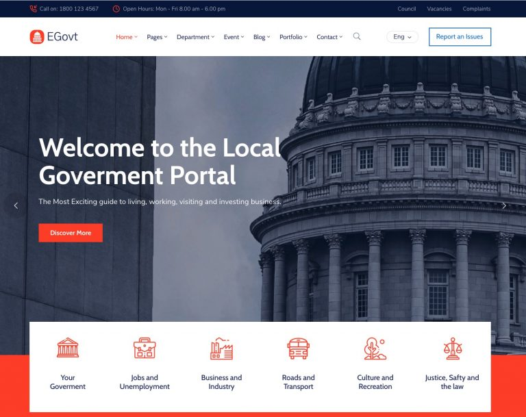 the poitical wordpress theme