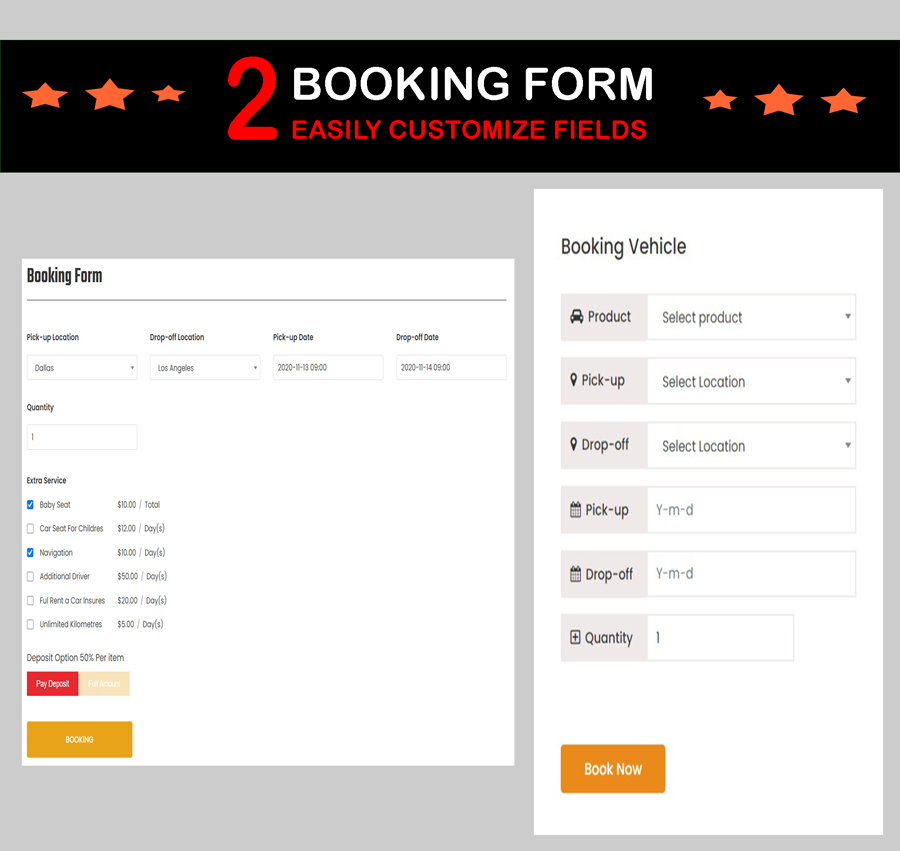 rental booking wordpress theme