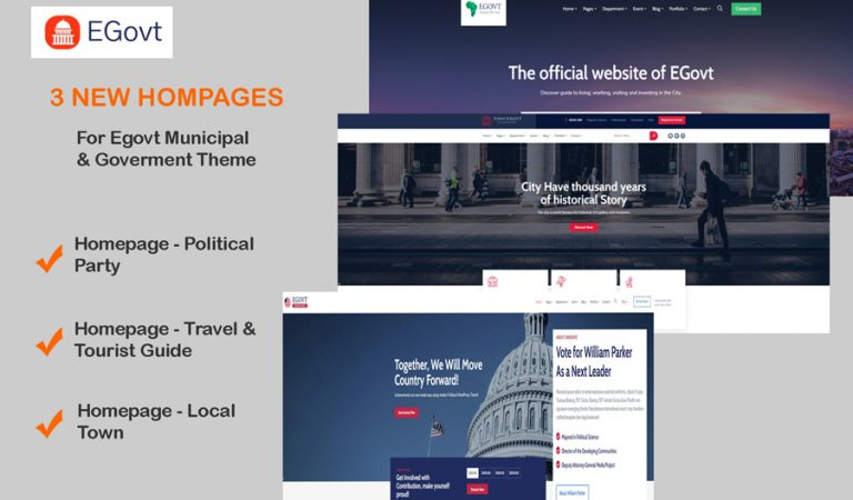 Municipal goverment Wordpress Theme